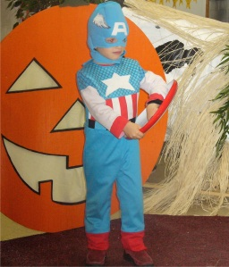 Jesse as Captain America