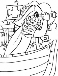 Columbus coloring page